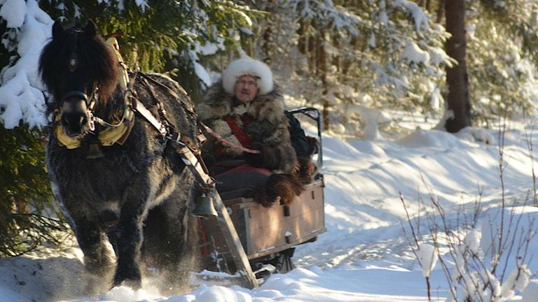 Forbonden Lennart från Matfors med sin häst Kohl. Foto: Privat