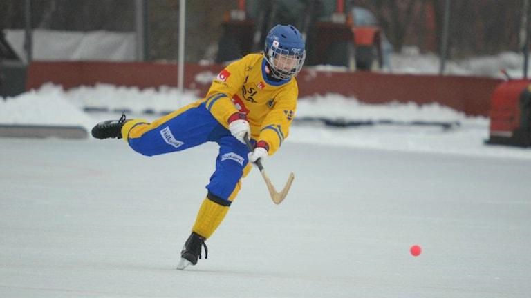 Söråkers Malin Persson i landslagsdressen. Foto: Micael Hillgren/Privat