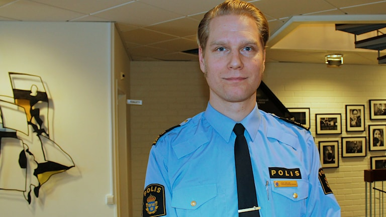 Josef Wiklund, lokalpolisområdeschef i Medelpad. Foto: Agneta Jacobsson/SR