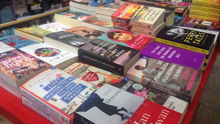 Bokförsäljningen ökar. Foto P4 Västernorrland