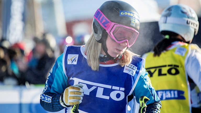 IDRE 20160214 Sandra Näslund under världscupen i skicross i Idre Fjäll Foto: Christine Olsson / TT / Kod 10430