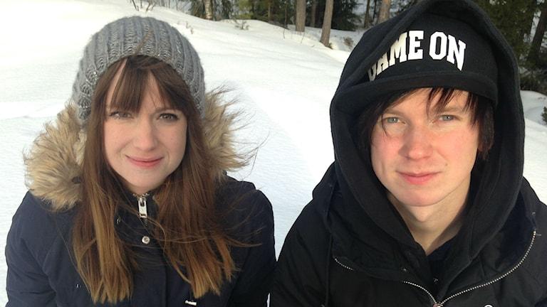 Sanna Norberg och Kristoffer Bergman. Foto: Karin Lönnå/Sveriges Radio