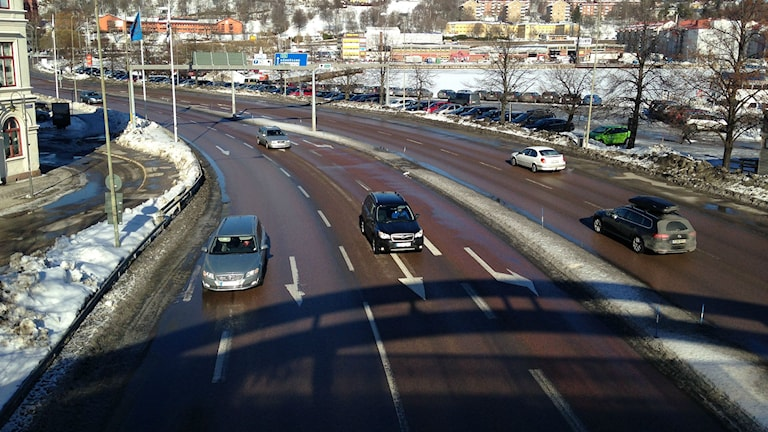 Gamla E4 i Sundsvall.
