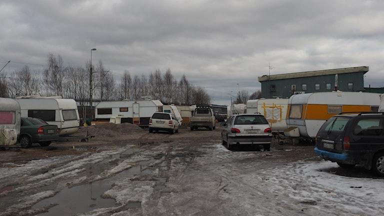 EU Migrantlägret i Sundsvall som stängs i september. Foto: Ingrid Engstedt Edfast/SR