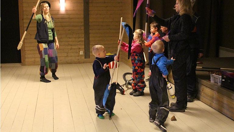 cirkus, Norra berget, Sundsvall, påsklov, barn, aktiviteter
