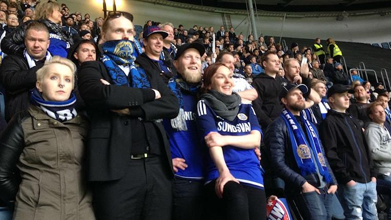 Supportrar till Gif Sundsvall på Friends Arena