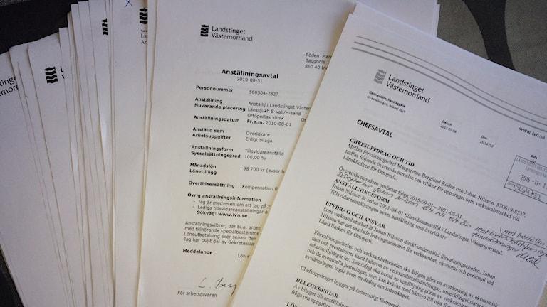 Allmänna handlingar som är offentliga. Foto: Ulla Öhman/SR