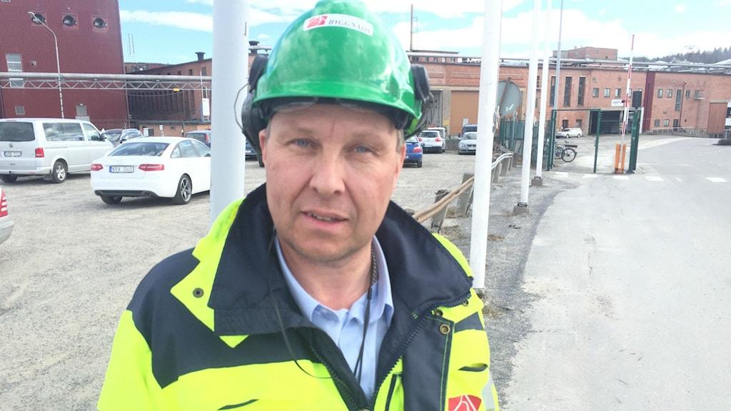 Jim Sundelin, ombudsman för Byggnads i mellannorrland. Foto: Viktor Åsberg/Sveriges Radio