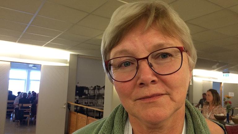 Ewa Back ordförande i landstingets hälso- och sjukvårdsnämnd. Foto: Ingrid Engstdt Edfast/SR