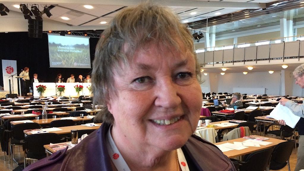 Elisabet Lassen kommunalråd i Sollefteå på Socialdemokraternas distriktsmöte. Foto: Ingrid Engstedt Edfast/SR