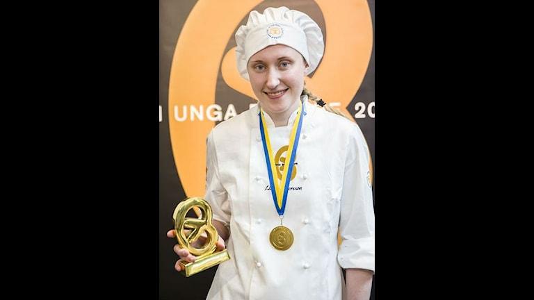 Lina Andersson från Ånge vann SM för unga bagare.