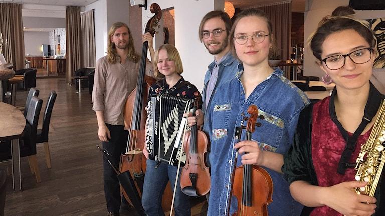 Folkmusikgruppen Sauna music. Foto: Christer Suneson