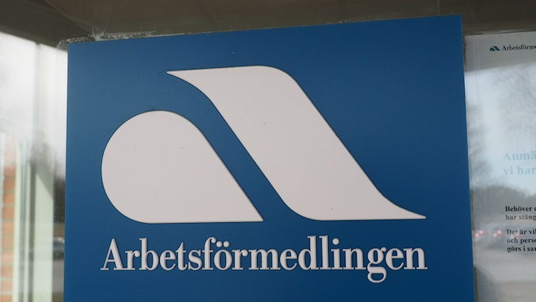 Skylt som visar arbetsförmedlingen i Kramfors. Foto: Ingrid Engstedt Edfast/SR