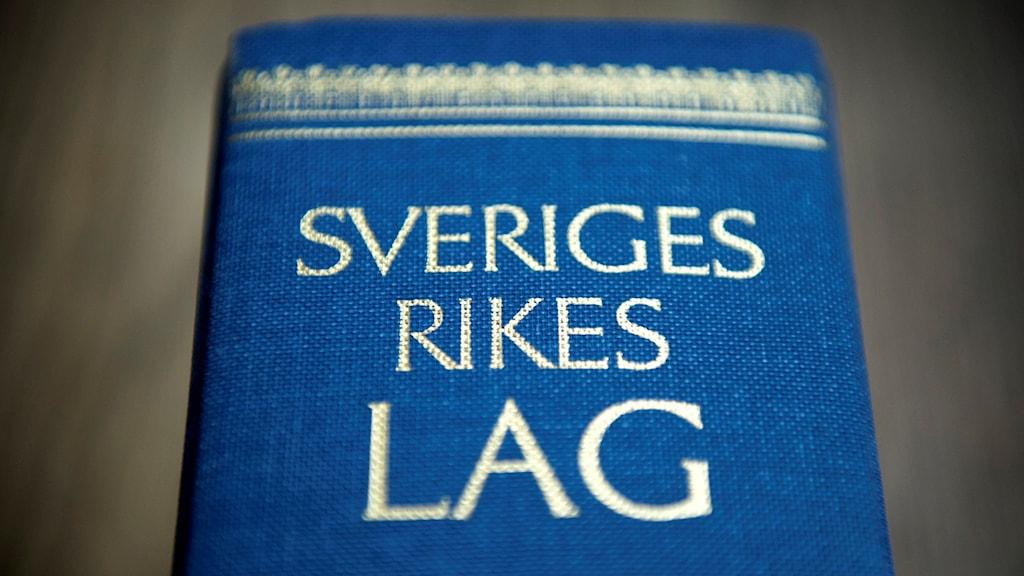 Lagbok - Sveriges rikes lag. Foto: Jessica Gow/TT