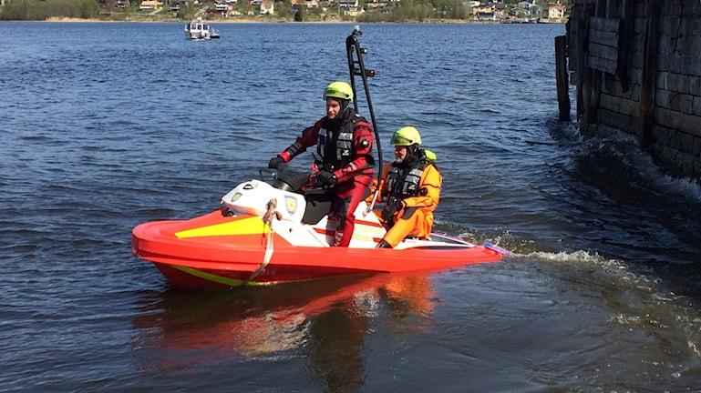 Räddningstjänsten i Medelpad övar sjöräddning