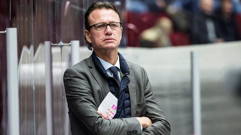 Fredrik Olausson, assisterande tränare i Modo. Foto: Andreas Hillergren/TT
