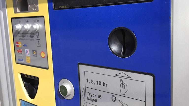 Stopp för myntbetalning för parkeringar i Sundsvall. Foto: Christer Suneson