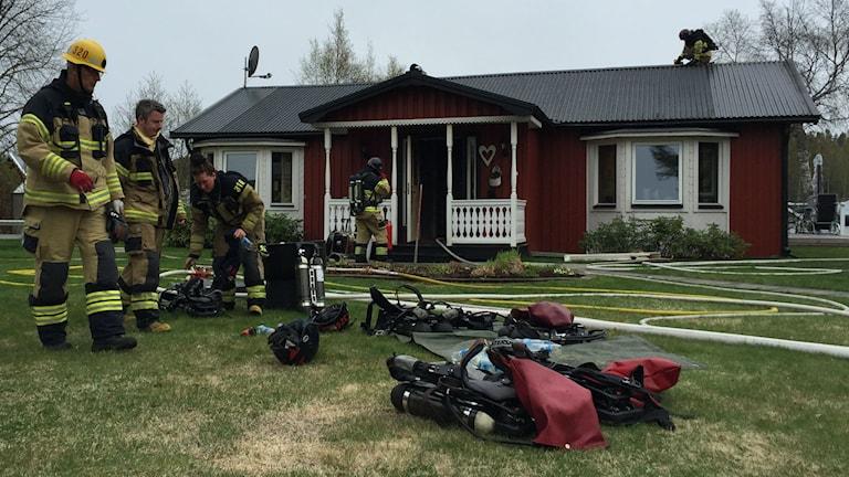 Villabrand i Lindbomstjärn, Njurunda. Foto: Sara Johansson SR