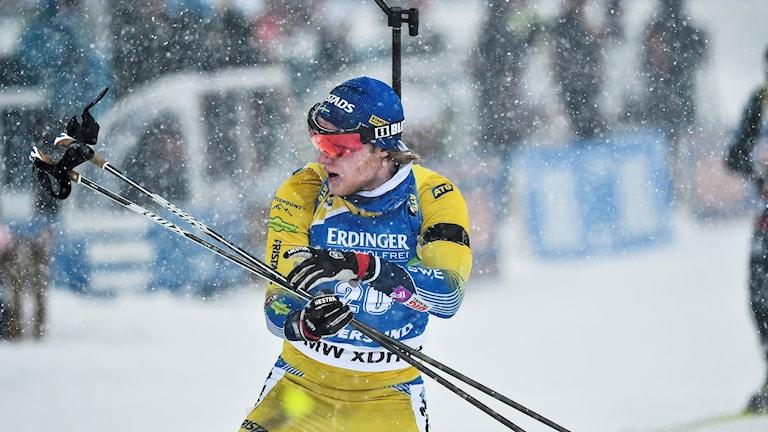 Sebastian Samuelsson bommade totalt fem skott och slutade på plats 26.