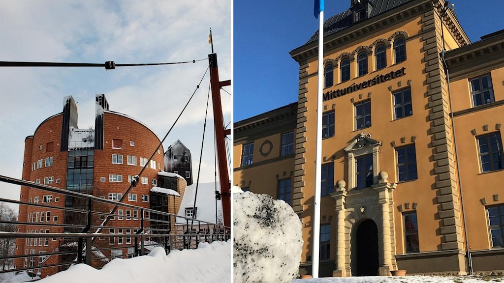 Mittuniversitetet i Sundsvall och Östersund.