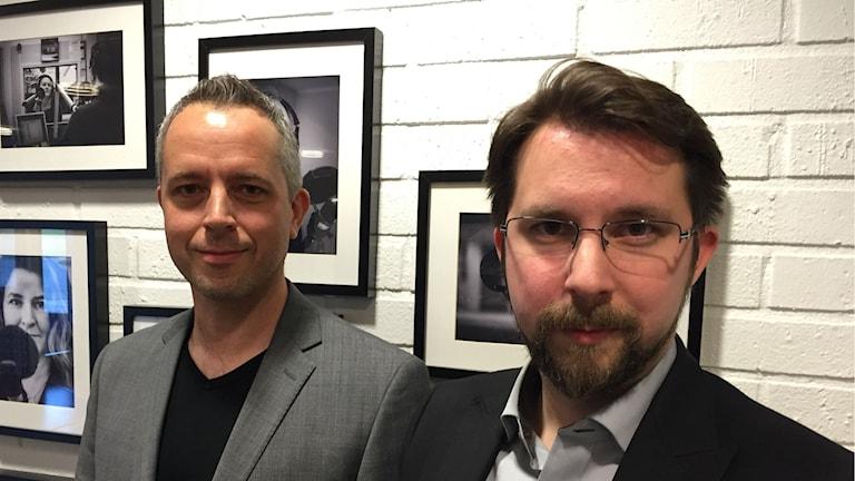 Daniel Lundberg och Hans Forsberg,Infrastruktur- och serviceutskottets ordförande och ansvarig politiker för skollokalsfrågan.Foto: Ulf Thonman/SR