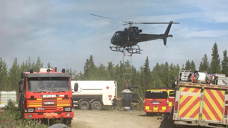 Brand utanför Sollefteå vid Helgum.
