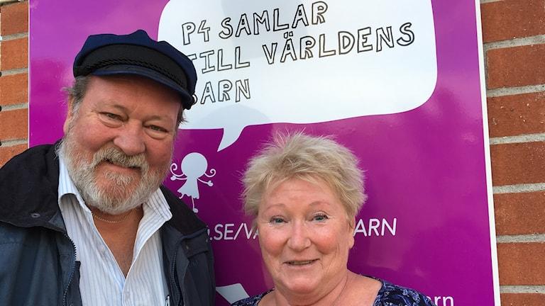 Programledare Lars T Johansson och producent Kerstin Ericsson. Foto: AC Carlsson/Sveriges Radio