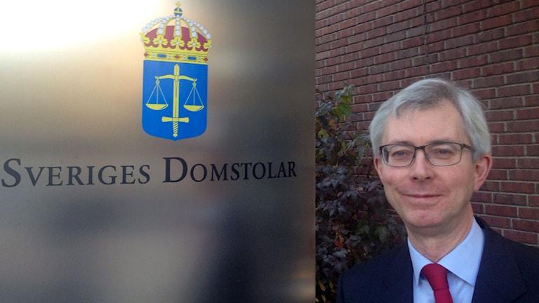 Robert Schött, lagman på tingsrätten i Sundsvall. Foto: Christer Suneson/SR