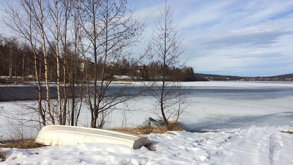Islossningen har startat och speciellt strömmande vatten kan ge svaga isar. Foto: Ingrid Engstedt Edfast