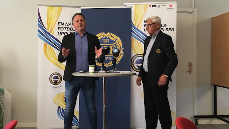Urban Hagblom och Hans Selling GIF Sundsvall presskonferens.