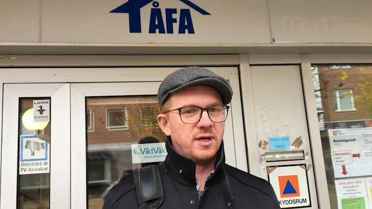 Joakim Persson är VD för ÅFA,  Ånges kommunala fastighetsbolag.