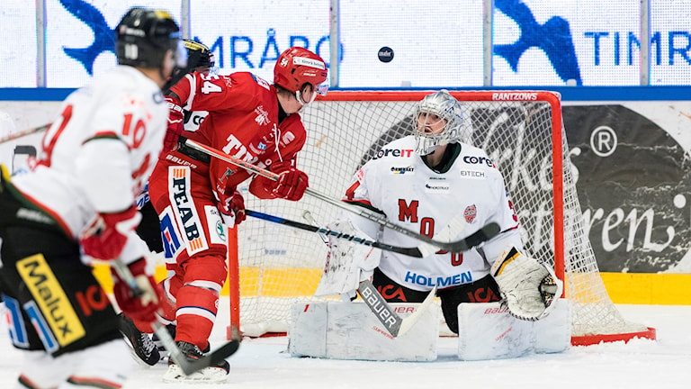 Timrå IK och Modo hockey. Foto: Pär Olert/Bildbyrån