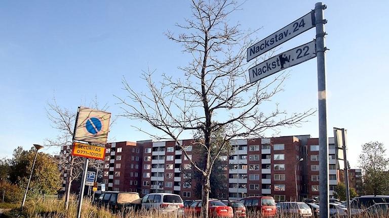 Nackstavägen 22-24 i Sundsvall. Foto: Ingrid Engstedt Edfast/Sveriges Radio