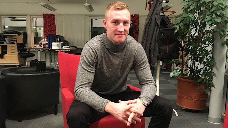 Otto Wallin, proffsboxare från Sundsvall. Foto: Peter Hansson.