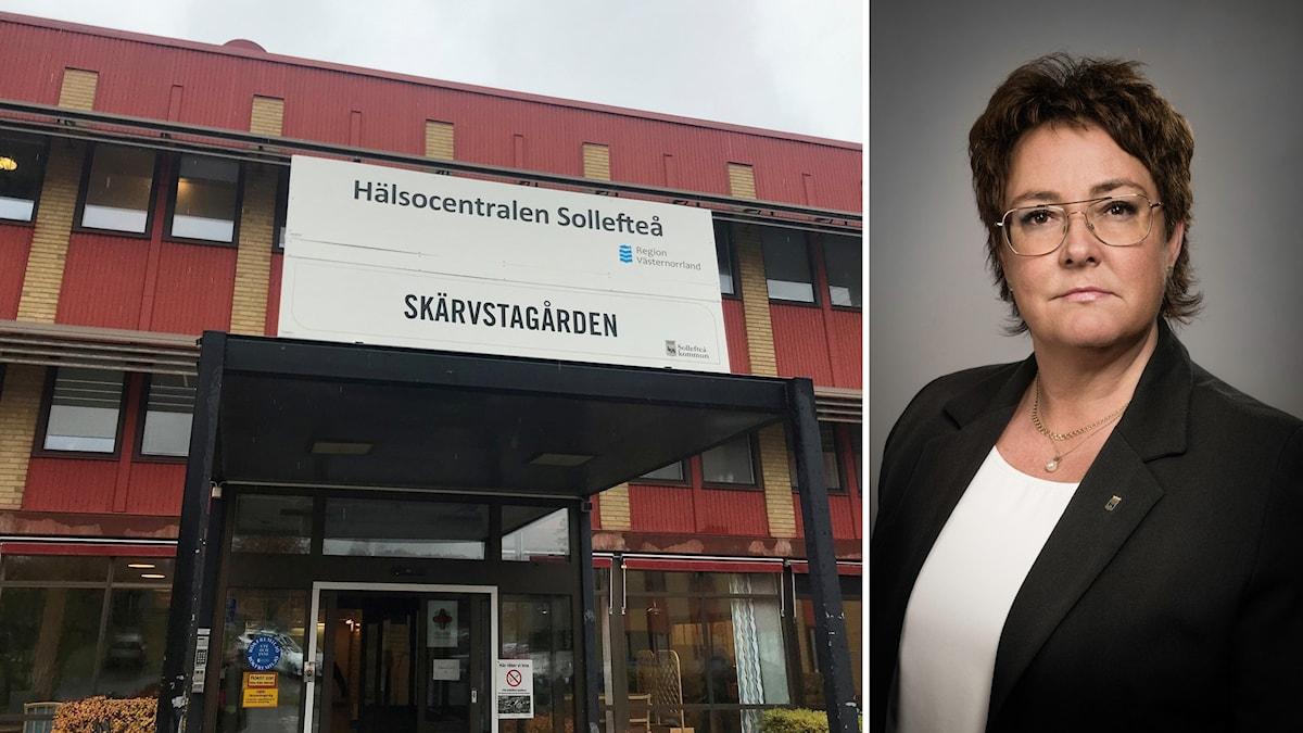 Skärvstagården och socialchef Ann-Katrin Lundin i Sollefteå