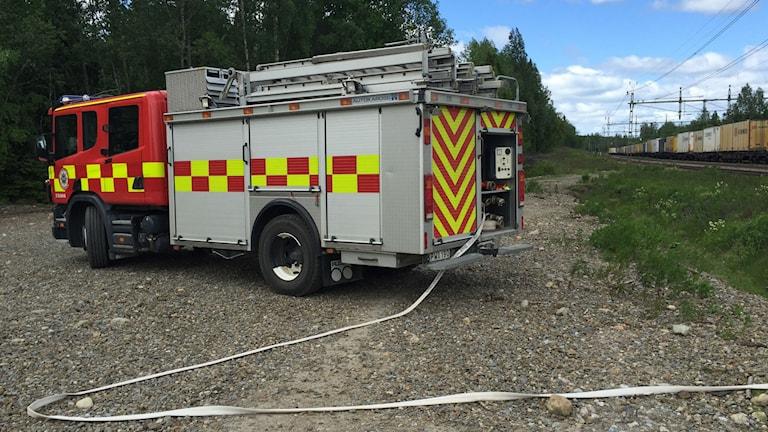Räddningstjänst. Foto: Viktor Åsberg SR