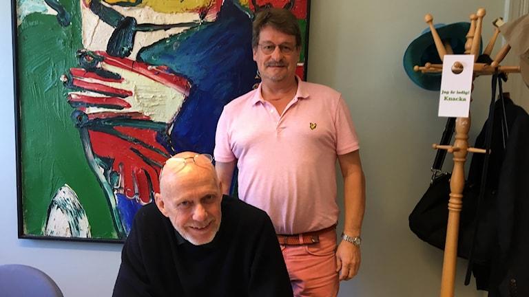 Kommunalrådet Fred Nilsson (S) och Anders Gäfvert (M).