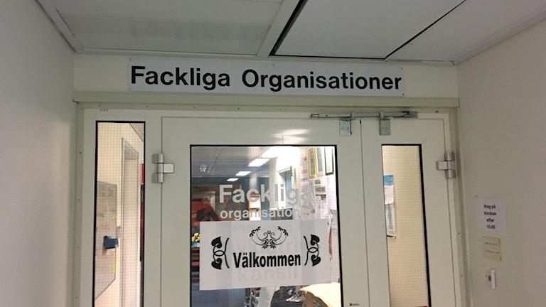 De fackliga organisationerna på landstinget. Foto Ulla Öhman