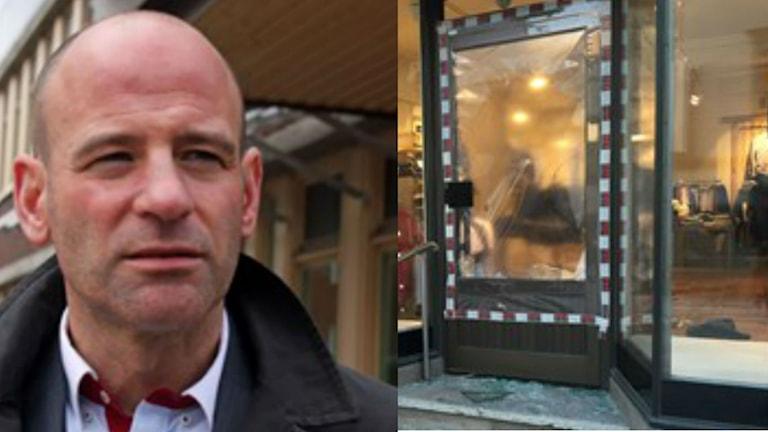 Staffan Blyberg är åklagare i fallet där en klädbutik utsattes för smash and grab-kupp. Foto: Ingrid Engstedt Edfast/Sveriges Radio Viktor Åsberg/Sveriges Radio
