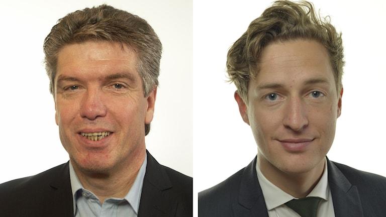 Ingemar Nilsson (S) och Emil Källström (C).