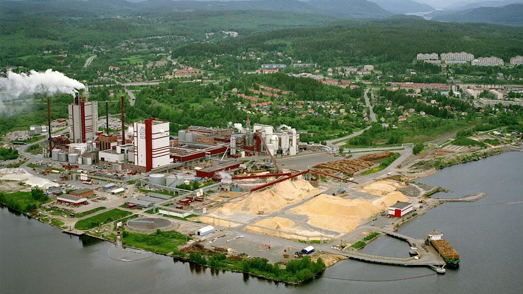 Östrands massafabrik i Timrå. Foto: SCA
