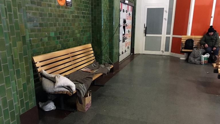 hemlöshet, tågstationen Sundsvall, hemlös.