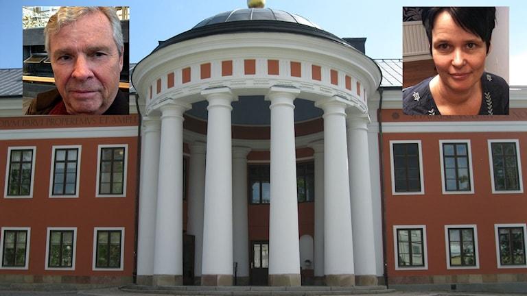 Rådhuset i Härnösand. Infällda: Anders Byquist och Petra Norberg. Foto: Sveriges Radio/Privat