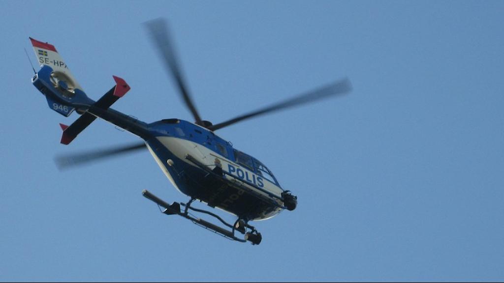En helikopter. Foto: Ulla Öhman/Sveriges Radio