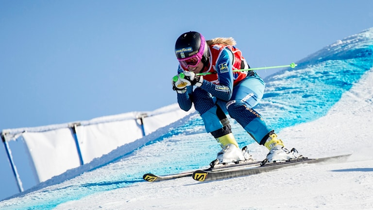 Anna Holmlund in action in a World Cup competition.