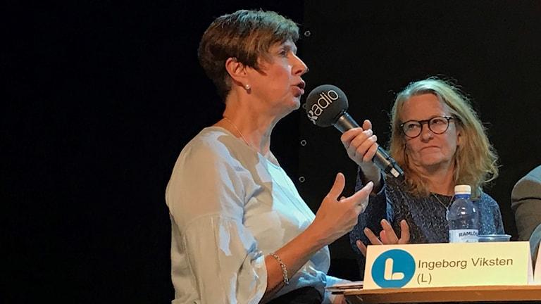 Ingeborg Viksten (L) under landstingsdebatten.