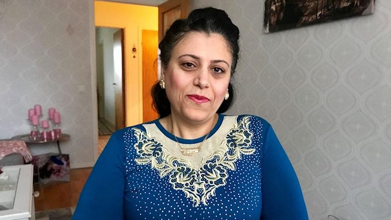 Ett porträtt på Kurdistan Kasem Ali som bjudit in 1000 kurder till Gif Sundsvall-Dalkurd FF matchen på söndag.