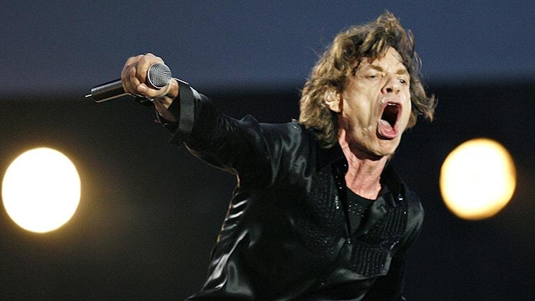 Mick Jagger under en konsert i Italien 2006. Foto: Luca Bruno/AP/TT