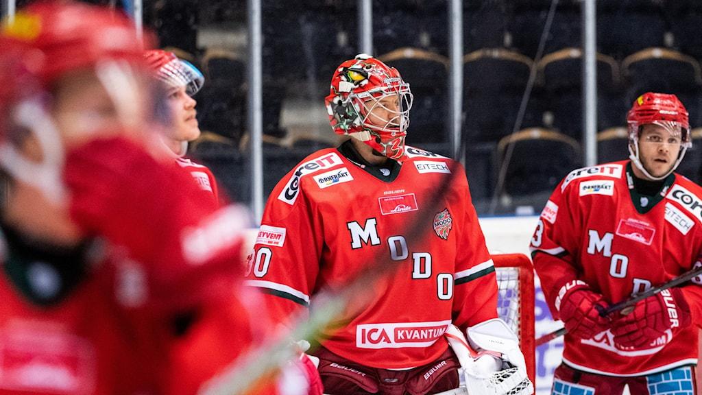 Modo Hockey deppar efter förlust mot Vita Hästen.