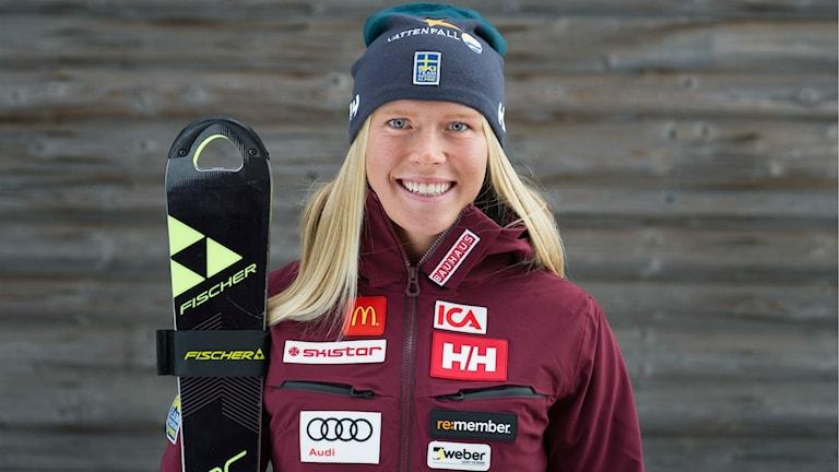 Lisa Hörnblad, alpin åkare från Örnsköldsvik. Foto: Klas Rockberg/SSF